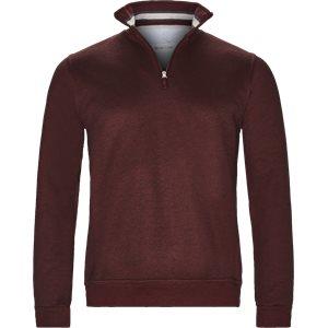 Half Zip Sweatshirt Regular   Half Zip Sweatshirt   Bordeaux